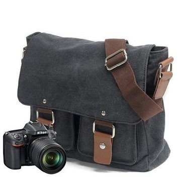 Canvas Camera Bag Vintage Photography Bag Crossbody Bag For Men Women