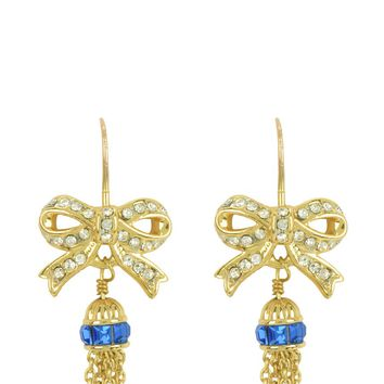 Bow & Tassel Drop Earring by Juicy Couture
