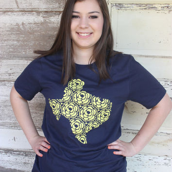 Yellow Rose of Texas - Ruby's Rubbish Tee