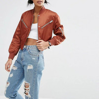 Top Shop Sports Hot Deal On Sale Zippers Baseball Jacket [8069645447]