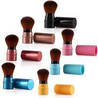 ONETOW New Design 1Pcs MIni Soft Makeup Brush Retractable Pro Foundation Cosmetic Blusher Face Powder Brushes Beauty Tools