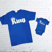 King and Prince T-shirt.King T-shirt. Prince Onesuit. Father and Son T-shirts. Father and Daughter T-shirt. Fathers Day Matching Set