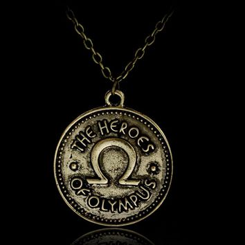 Percy Jackson Camp Half Blood The heroes of olympus ivlivs coin Necklace Vintage Accessories