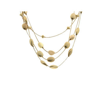 Shawna's Layered Matte & Polished Gold Beaded Necklace