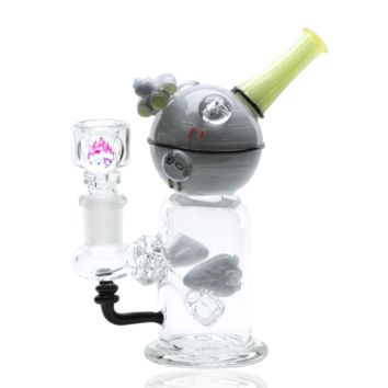 Empire Glassworks Illuminati Baby Space Station Mini Rig Water Pipe