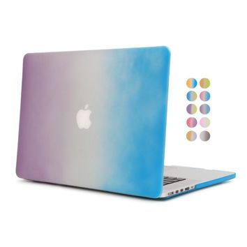 for macbook pro 13 a1502 gradient case with free gift US keyboard cover for apple mac book pro 13inch with retina display