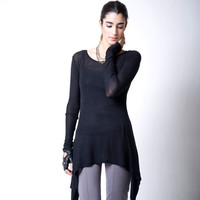 Oversize Asymmetrical Top/ Party Top/ Loose Long Blouse -  Donation to UNICEF - MB079