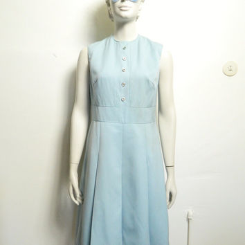 Beautiful dress 1960 s pastel blue vintage dress 38 - M