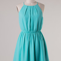 Solid Halter Dress - Mint