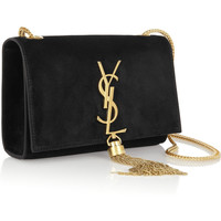 Saint Laurent | Cassandre small suede shoulder bag | NET-A-PORTER.COM