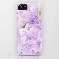 Lavender Peonies iPhone & iPod Case by Lisa Argyropoulos