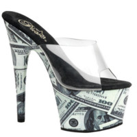 Money Print High Heel Shoes