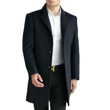 Tailor-made Men's Wool Coats & Jackets Winter Cashmere Jacket Man Long Section Business Style Overcoat Turn-down Collar Casual