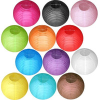 """Multicolor Chinese paper Lanterns Wedding Party Decoration 6"""" 8"""" 10"""" 12"""" 14"""" 16"""" [7981851463]"""