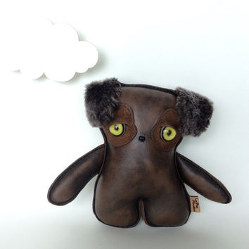 Plush Puppy, Little Girl Gift, Stuffed Dog, Puppy Doll, Plush Monster By Leather Monsters for Etsy