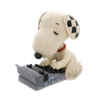 Jim Shore SNOOPY TYPING Polyresin Peanuts 6001298