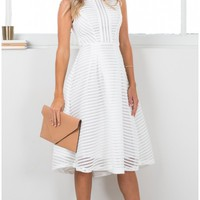The interview dress in white