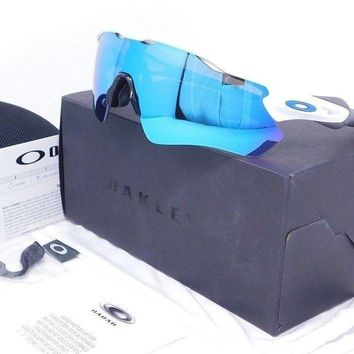 Oakley RADAR EV PATH Sunglasses OO9208-17 White with Sapphire Blue Iridium lens