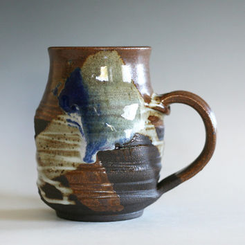 Twisted Coffee Mug, 16 oz, handmade ceramic cup, tea cup, coffee cup, handthrown ceramic stoneware pottery mug, unique coffee mug