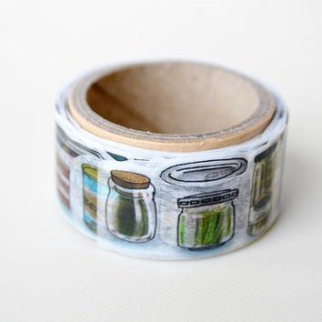 Yano design debut series bottling and canned food washi tape 20mm x 5M