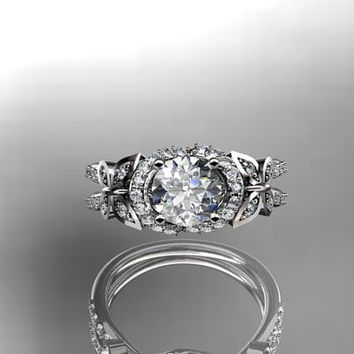 platinum diamond butterfly wedding ring,engagement ring ADLR141
