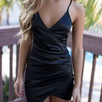 Masquerade Black Lace Back Dress