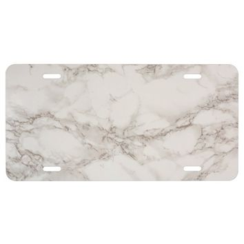 Marble Stone Aluminum License Plate