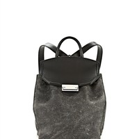 Black Prisma Skeletal Backpack In Black With Rhodium - Alexander Wang