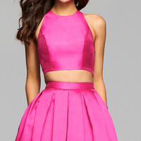Two Piece Open Back Homecoming Dress by Faviana
