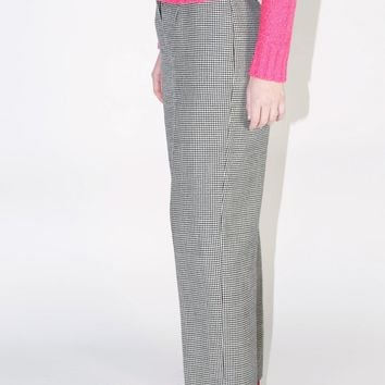 Houndstooth Checkered Print Pants / M L 29 Inch Waist