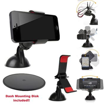 Universal Car Mount Holder for iPhone Samsung Galaxy S3 S4 S5 Mobile Phone GPS 604753900473