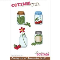CottageCutz Die Cuts with Foam, 4 by 6-Inch, Canning Jar with Accessories