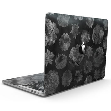 Black Floral Succulents - MacBook Pro with Touch Bar Skin Kit