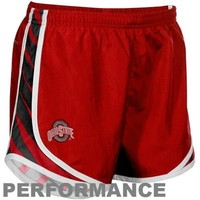 Nike Ohio State Buckeyes Ladies Scarlet Striped Tempo Performance Shorts