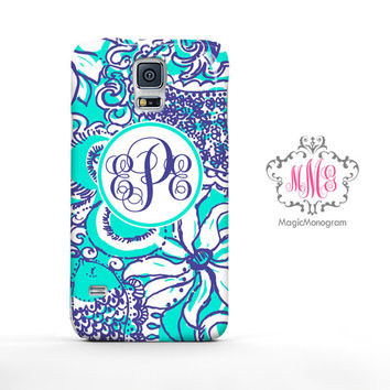 Sea Foam Montauk Lilly Pulitzer Monogram Samsung Galaxy S6 Case, Galaxy Note 4 Case