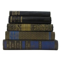 Pre-owned Black & Gold Decorative Books - Set of 5