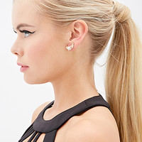 FOREVER 21 Floral Ear Pins Cream/Gold One