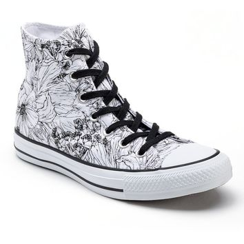 Converse All Star Women s Floral High-Top from Kohl s 0f8afaebfd