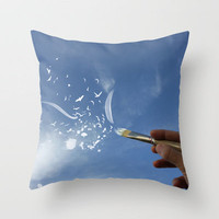 Painted Sky Throw Pillow by Skye Zambrana | Society6