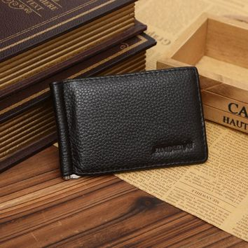 2015 man wallets Ultra Slim Wallet Men's PU Leather Bifold Wallet ID Credit Card Holder For Men #EY