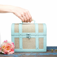 Nautical Wooden trunk Rustic Box Shabby Chic - Home Bathroom Decor