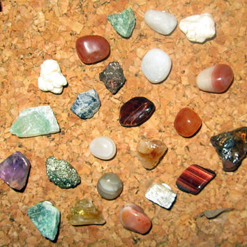 Genuine Gemstone Cork Board Pins