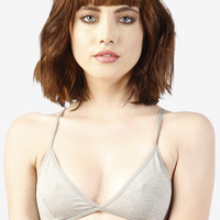 Perf Triangle Bra - Heather Grey