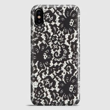 Lace Print iPhone X Case