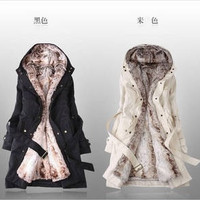 Women's wool coat winter liner trench overcoat medium-long slim fur jacket overcoat cashmere coat women = 1930476164