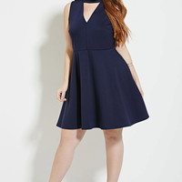 Plus Size V-Neck Dress