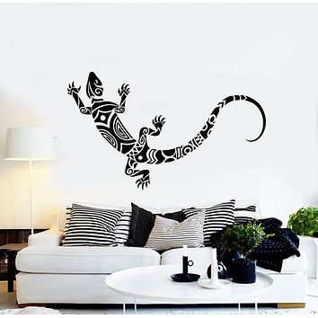 Vinyl Wall Decal  Beautiful Little Nimble Lizard Animal Ornament Stickers Mural (g754)