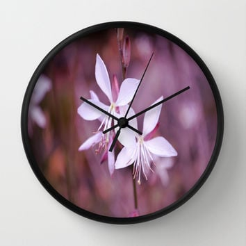Pretty  Wall Clock by Lena Photo Art