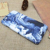 Unique Tie-dyed Blue Marble Stone iPhone 5se 5s 6 6s Plus Case Superior Quality Non-slip Cover  iPhone 7 7 Plus case + Free Gift Box + Free Shipping