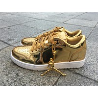 Air Jordan 1 Pinnacle Local tyrants gold Basketball Shoes 40-47